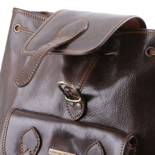 Rucsac din piele Tuscany Leather maro Singapore