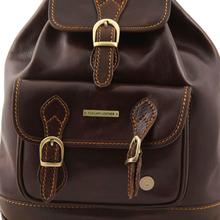 Rucsac din piele Tuscany Leather negru Singapore