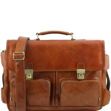 Servieta din piele naturala Tuscany Leather, honey, Ventimiglia