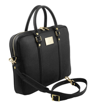 Geanta laptop neagra dama eleganta Tuscany Leather, Prato