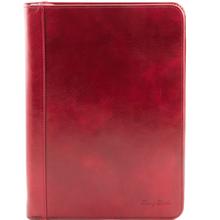 Mapa documente Tuscany Leather din piele naturala rosie Luigi