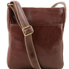 Geanta crosssbody barbati Tuscany Leather din piele naturala maro Jason