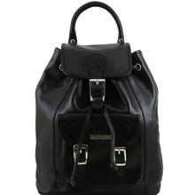 Rucsac Tuscany Leather  din piele naturala neagra Kobe S