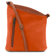 Geanta unisex Tuscany Leather din piele naturala TL Bag, portocalie