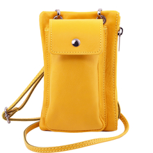 TL Bag Soft Leather cellphone holder mini cross bag Yellow