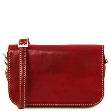 Geanta piele naturala dama Tuscany Leather, rosie, Carmen