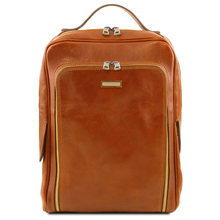 Rucsac laptop Tuscany Leather, Bangkok, din piele naturala, honey