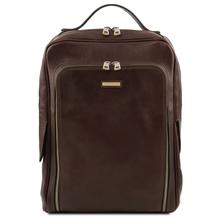 Rucsac laptop barbati din piele naturala Tuscany Leather, maro inchis, Bangkok
