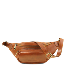 Borseta de brau barbati din piele naturala Tuscany Leather, honey