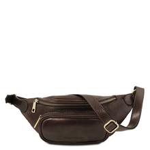 Borseta barbati Tuscany Leather din piele naturala maro inchis