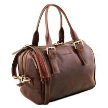 Geanta piele naturala dama Tuscany Leather, rosie, Eveline