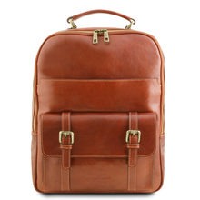 Rucsac laptop din piele naturala honey, Tuscany Leather, Nagoya