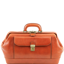 Geanta doctor din piele naturala honey, Tuscany Leather