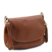 Geanta de firma din piele naturala Tuscany Leather, cafenie, TL Bag