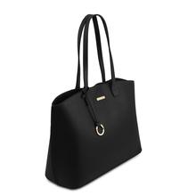 Geanta neagra dama din piele naturala, Tuscany Leather, TL Bag