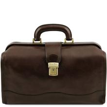 Geanta doctor din piele naturala Tuscany Leather, maro inchis, Raffaello