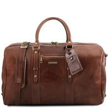 Geanta de voiaj din piele maro, Tuscany Leather,  Voyager Travel