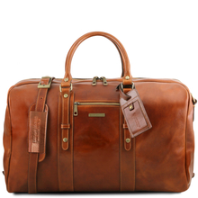 Geanta de voiaj din piele honey, Tuscany Leather,  Voyager Travel