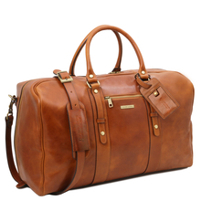 Geanta voiaj din piele naturala honey, Tuscany Leather,  Voyager Travel
