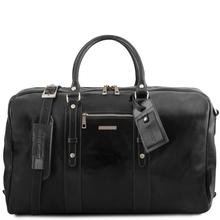 Geanta de voiaj din piele neagra, Tuscany Leather,  Voyager Travel