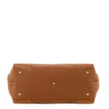 Geanta lux dama din piele naturala coniac Tuscany Leather, Ambrosia