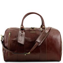 Geanta voiaj din piele naturala maro, marime mare, Tuscany Leather, Voyager