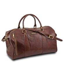 Geanta mare voiaj din piele naturala maro, Tuscany Leather, V