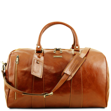 Geanta voiaj din piele naturala honey, marime mare Tuscany Leather, Voyager
