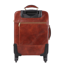 Troler din piele naturala neagra, Tuscany Leather, TL Voyager