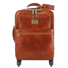 Troler din piele naturala honey, Tuscany Leather, TL Voyager