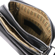 Geanta de umar barbati din piele naturala neagra, Tuscany Leather, Larry