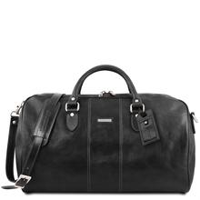 Geanta voiaj din piele neagra, marime mare, Tuscany Leather, Lisbona