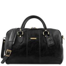 Geanta voiaj din piele naturala neagra, marime mica, Tuscany Leather, Lisbona