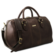 Geanta mica voiaj din piele natural maro inchis, Tuscany Leather