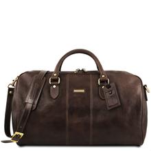 Geanta voiaj din piele maro inchis, marime mare, Tuscany Leather, Lisbona