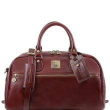 Geanta de voiaj din piele maro, marime mica, Tuscany Leather, TL Voyager