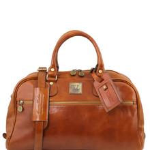 Geanta de voiaj din piele honey, marime mica, Tuscany Leather, TL Voyager