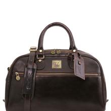 Geanta de voiaj din piele maro inchis, marime mica, Tuscany Leather, TL Voyager