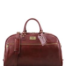 Geanta voiaj din piele maro, marime mare, Tuscany Leather, TL Voyager