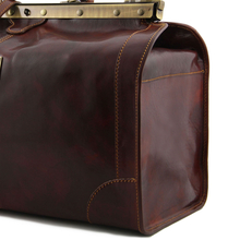 Geanta mare voiaj din piele naturala maro inchis, Tuscany Leather