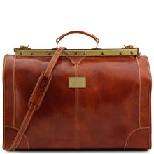 Geanta de voiaj din piele honey, marime mare, Tuscany Leather, Madrid
