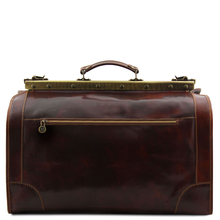 Geanta de voiaj din piele naturala maro inchis, Tuscany Leather, Madrid