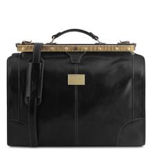 Geanta de voiaj din piele neagra, marime mica, Tuscany Leather, Madrid