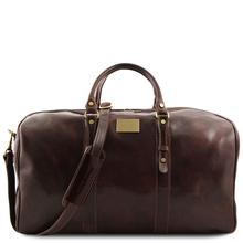 Geanta voiaj din piele maro inchis, marime mare, Tuscany Leather, Francoforte