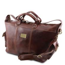 Geanta de voiaj din piele naturala maro, Tuscany Leather, P