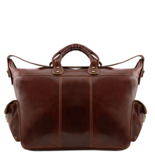 Geanta voiaj din piele naturala maro, Tuscany Leather, Porto