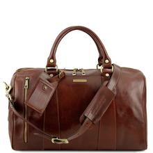 Geanta mica de voiaj din piele naturala maro, Tuscany Leather, Voyager