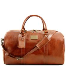 Geanta voiaj din piele naturala honey, Tuscany Leather, Voyager