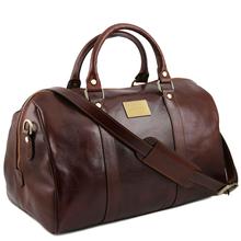 Geanta voiaj din piele maro, marime mica, Tuscany Leather, Voyager T