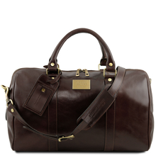 Geanta voiaj din piele honey, marime mica, Tuscany Leather, Voyager Travel